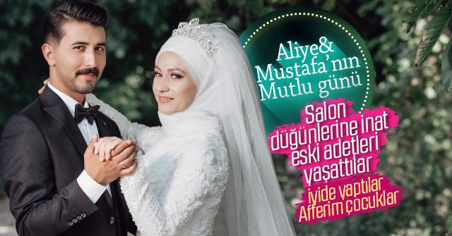 Aliye ve Mustafa Dünya evine girdi.