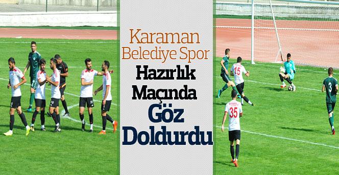 Karaman Belediye Spor Hazırlık Maçında Göz Doldurdu