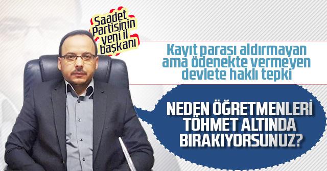 Yasim Koz hükümetin eğitim politikasını eleştirdi.