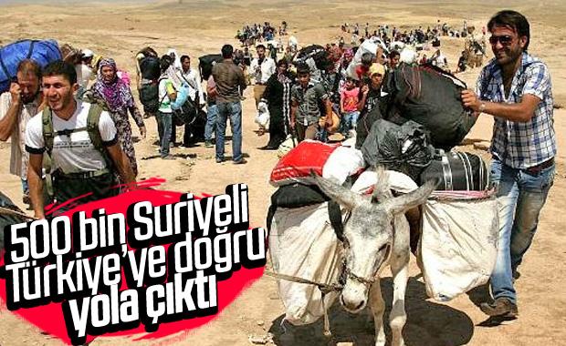 Esad bombaladı, Suriyeliler Türkiye'ye yöneldi