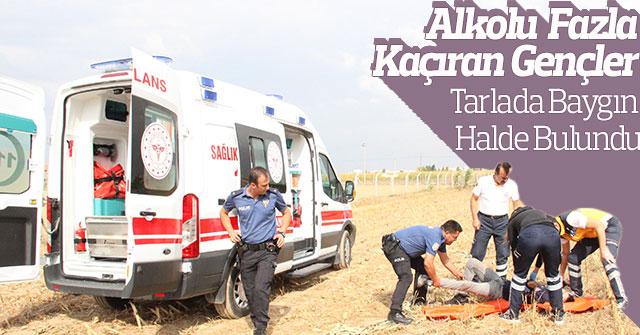 Karaman'da 2 genç, mısır tarlasında baygın halde bulundu