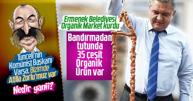 Ermenek Belediyesi Organik Market kurdu.