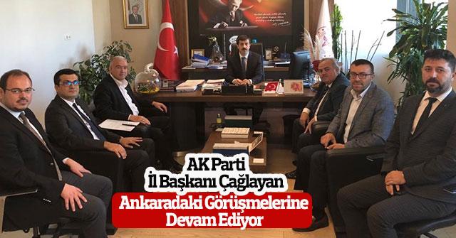Ak Parti Başkanı Çağlayan Ankaradaki Görüşmeleri Devam Ediyor