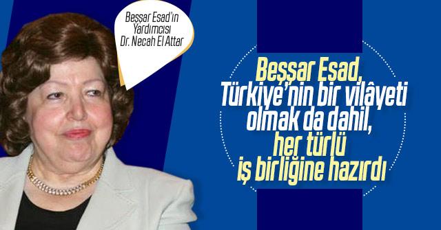Esad Türkiye'nin Vilayeti olmaya hazırdı.