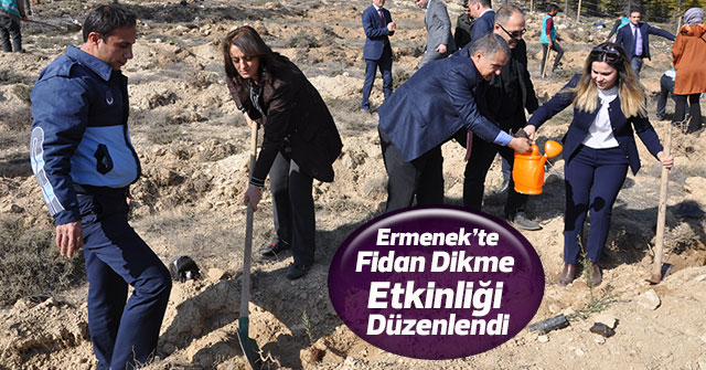 Ermenek'te , Fidan Dikme Etkinliği Düzenlendi