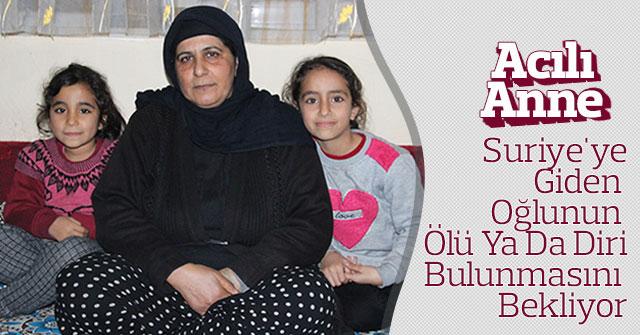 Suriye'ye giden oğlunun ölü ya da diri bulunmasını bekliyor