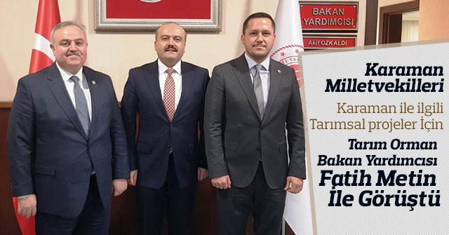 Karaman'ın  Barajları Tam Kapasite Tarımsal Sulamada Kullanılacak