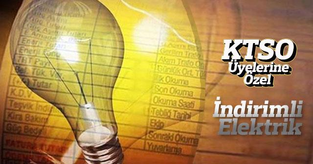 KTSO'sı Üyelerine Özel İndirimli Elektrik