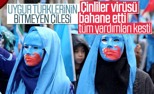 Çin, Uygur Türklerine yardımları kesti