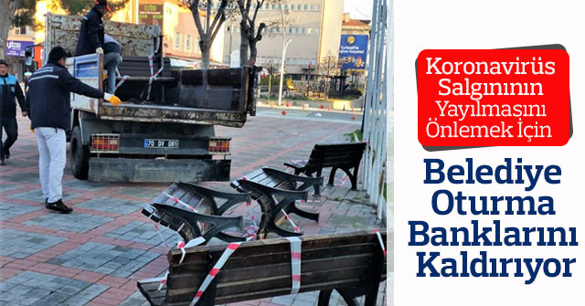 Belediye Oturma Banklarını Kaldırıyor