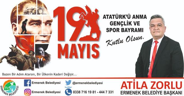 Başkan Zorlu'nun 19 Mayıs Kutlama Mesajı