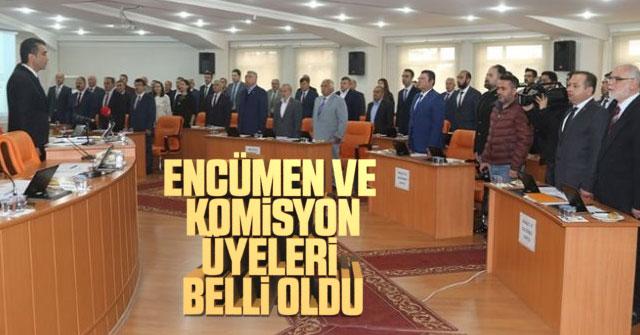 Encümen ve Komisyon üyeleri belli oldu.