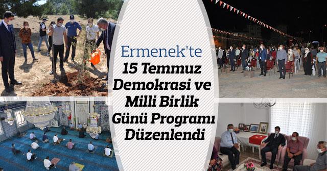 Ermenek'te 15 Temmuz Demokrasi Günü Programı Düzenlendi
