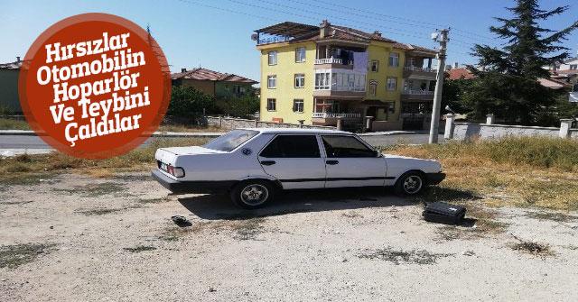 Karaman'da Otomobilin Hoparlör Ve Teybini Çaldılar