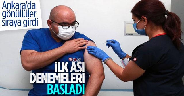 Koronavirüs aşı denemeleri Ankara Şehir Hastanesi'nde başladı
