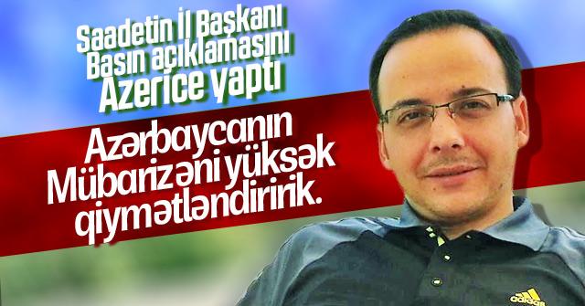 Saadet Paritisinden Azerice açıklama
