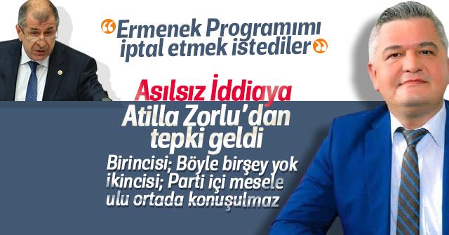 Atilla Zorlu'dan Ümit Özdağ'a tepki