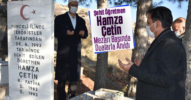 Şehit Öğretmen Hamza Çetin Mezarı Başında Dualarla Anıldı