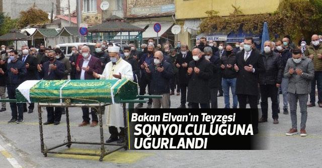 Bakan Elvan'ın teyzesi son yolculuğuna uğurlandı