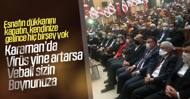 AKP'nin kongresinde sosyal mesafe yok
