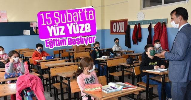 Okullarımız 15 Şubat'ta Yüz Yüze Eğitime Hazır