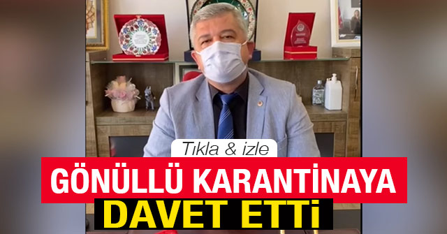 Atilla Zorlu'dan Gönüllü Karantina'ya davet