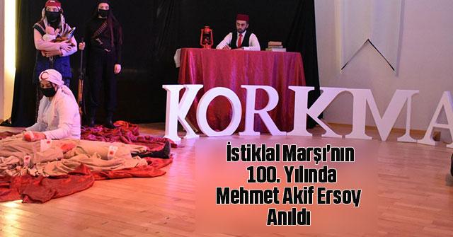 Milli Şairimiz Mehmet Akif Ersoy Anıldı
