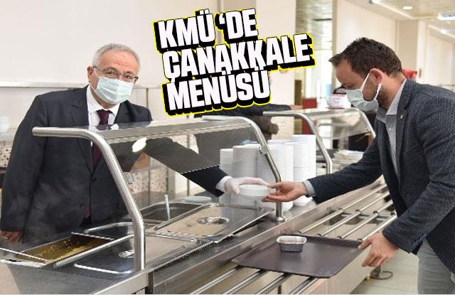 KMÜ yemekhanesinde Çanakkale menüsü