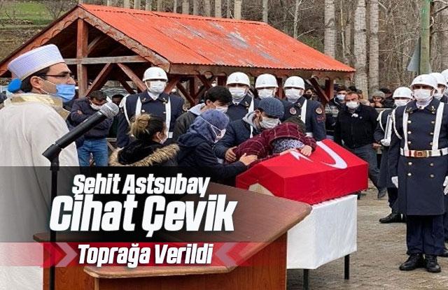 Şehit Astsubay Çavuş Cihat Çevik Karaman'da Toprağa Verildi