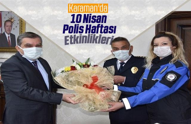 Karaman'da 10 Nisan Polis Haftası etkinlikleri