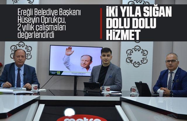 Ereğli Belediye Başkanı Oprukçu, 2 yıllık çalışmaları değerlendirdi