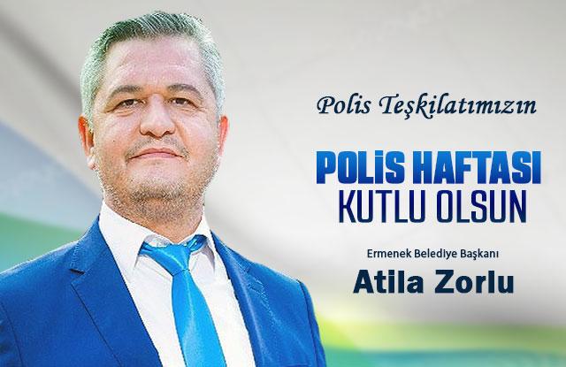 Belediye Başkanı Zorlu'nun 10 Nisan Polis Haftası Kutlama Mesajı