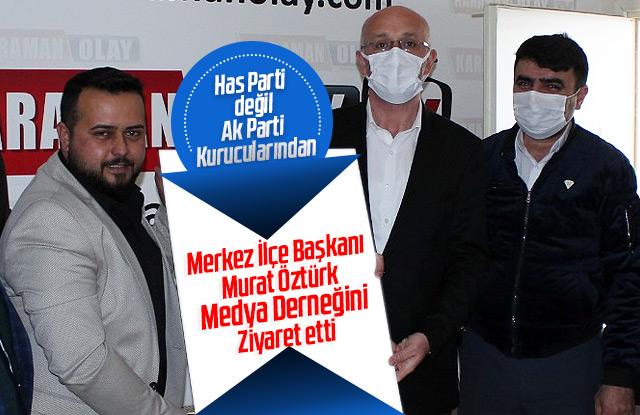 AK Parti'den Karaman Medya Basın Birliğine ziyaret