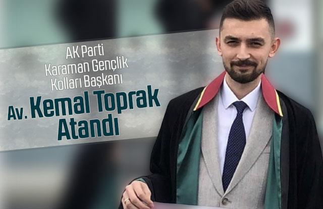 AK Parti karaman Gençlik Kolları Başkanı Av. Kemal Toprak Atandı