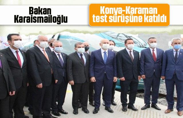 Bakan Karaismailoğlu, YHT Hattının test sürüşüne katıldı