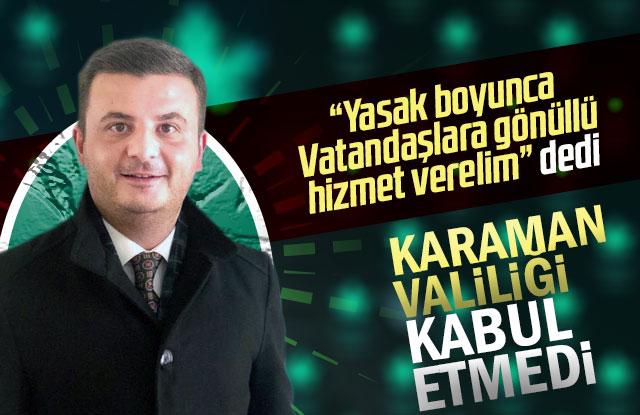Gelecek Partisinin yardım çalışmasına Karaman Valiliği izin vermedi.
