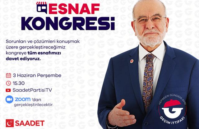 """""""Esnaf Kongresi"""" 3 Haziran'da"""