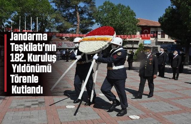 Jandarma Teşkilatı'nın 182. Kuruluş Yıldönümü kutlandı