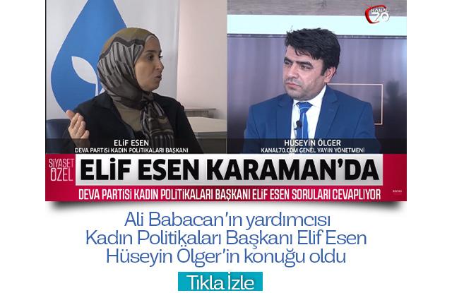 Deva Partisi Genel Başkan Yardımcısı Elif Esen, Hüseyin Ölger'in konuğu oldu