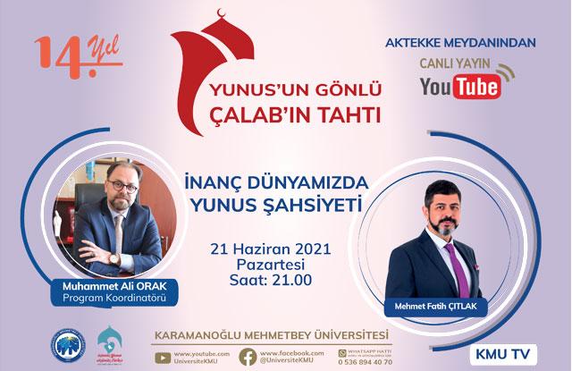 Postnişin M. Fatih Çıtlak, KMÜ Canlı Yayınının Konuğu Olacak