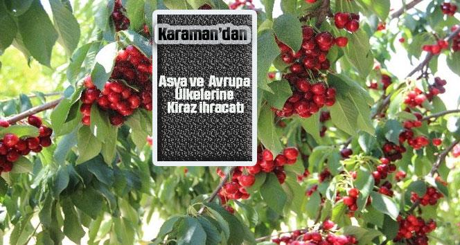 Karaman'dan Asya ve Avrupa ülkelerine kiraz ihracatı