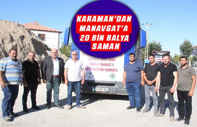 Karaman'dan Manavgat'a 20 Bin Balya Saman