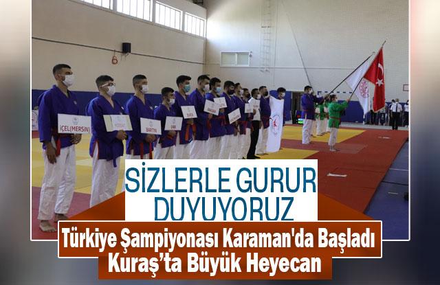 Kuraş Türkiye ŞampiyonasıI Karaman'da Başladı