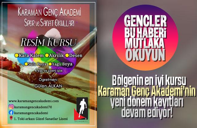 Bölgenin en iyi kursu Karaman Genç Akademi'nin yeni dönem kayıtları devam ediyor!