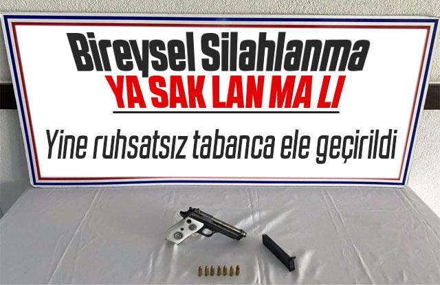 Karaman'da ruhsatsız tabanca ele geçirildi