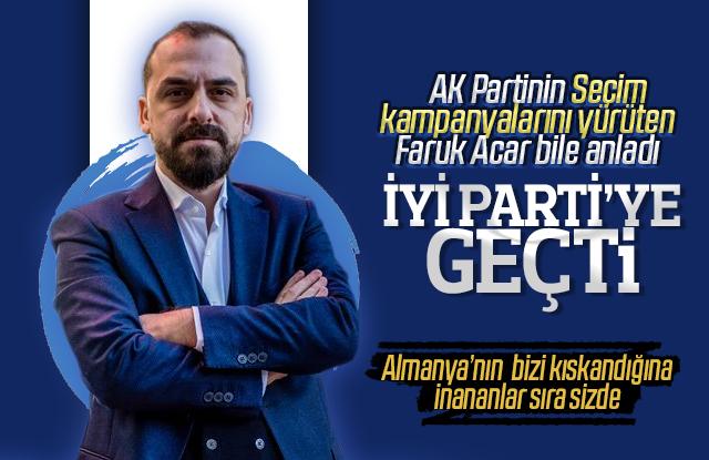 Faruk Acar AK Partiden ayrılıp İYİ Partiye geçti.