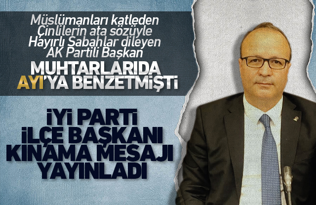 İYİ Parti Ermenek İlçe Başkanı, AKP'li Başkanı kınadı