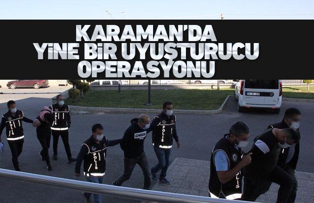 Karaman'da 4 kişi uyuşturucudan tutuklandı