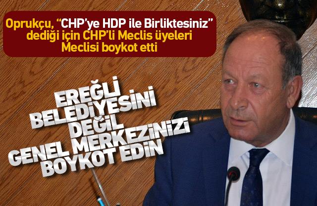CHP'lilerden Ereğli Belediyesine boykot