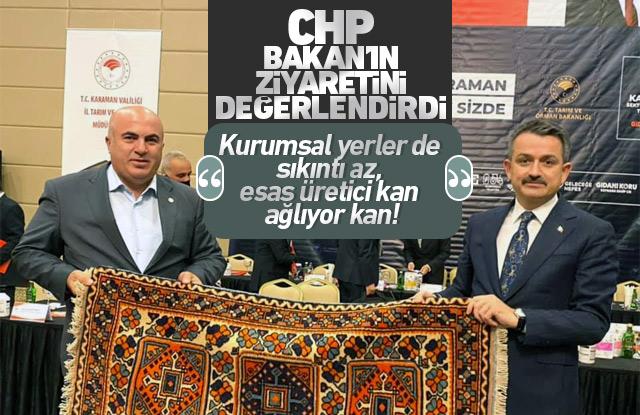 CHP Karaman Teşkilatı Bakanın ziyaretini değerlendirdi.